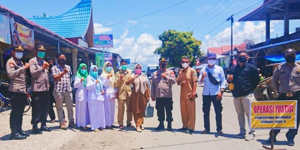 Polsek Nan Sabaris Gelar operasi Yustisi guna pencegahan Penularan Covid-19 di Ulakan Tapakih