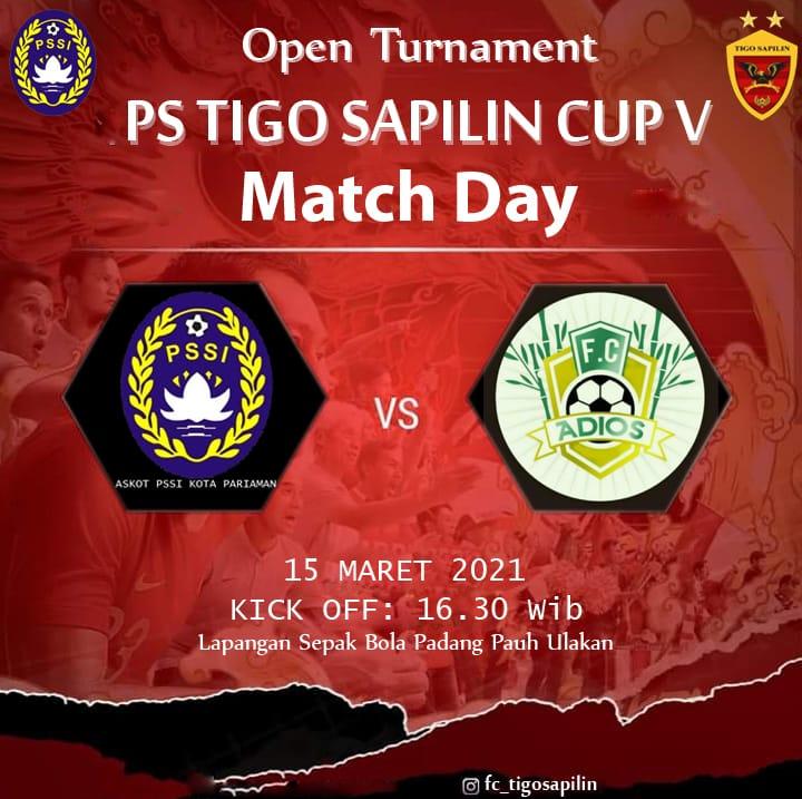 Menang Besar 4-1 atas Adios FC, Askot PSSI Kota Pariaman melaju ke babak 8 Besar Tigo Sapilin Cup
