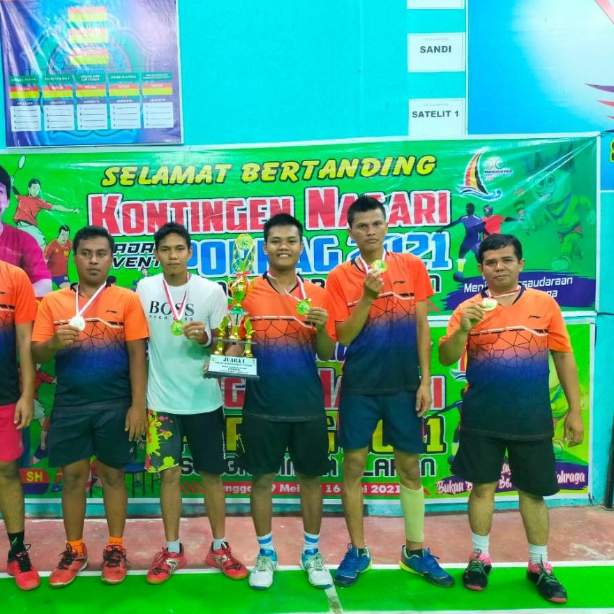 Cabor Badminton Raih Emas, Nagari Ulakan puncaki klasemen sementara PORNAG II tahun 2021